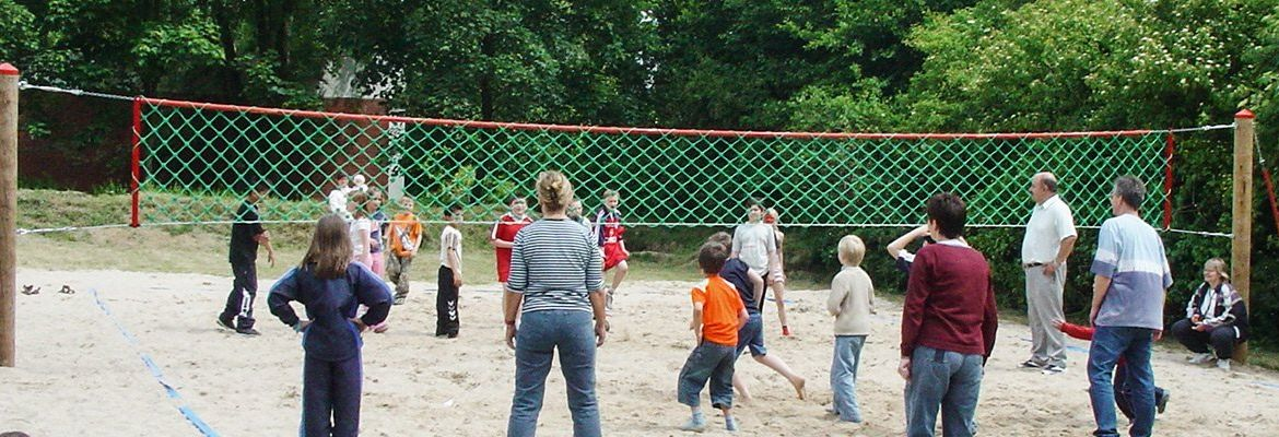 Volleyballnetzanlage komplett