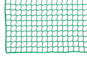 Safety net with a flame-retardant finish