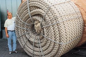 Polypropylene running surface rope per running metre