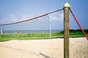 Volleyballnet at a beach