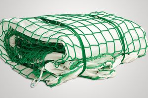 Fall Safety Net with Airtight Tarpaulin in green